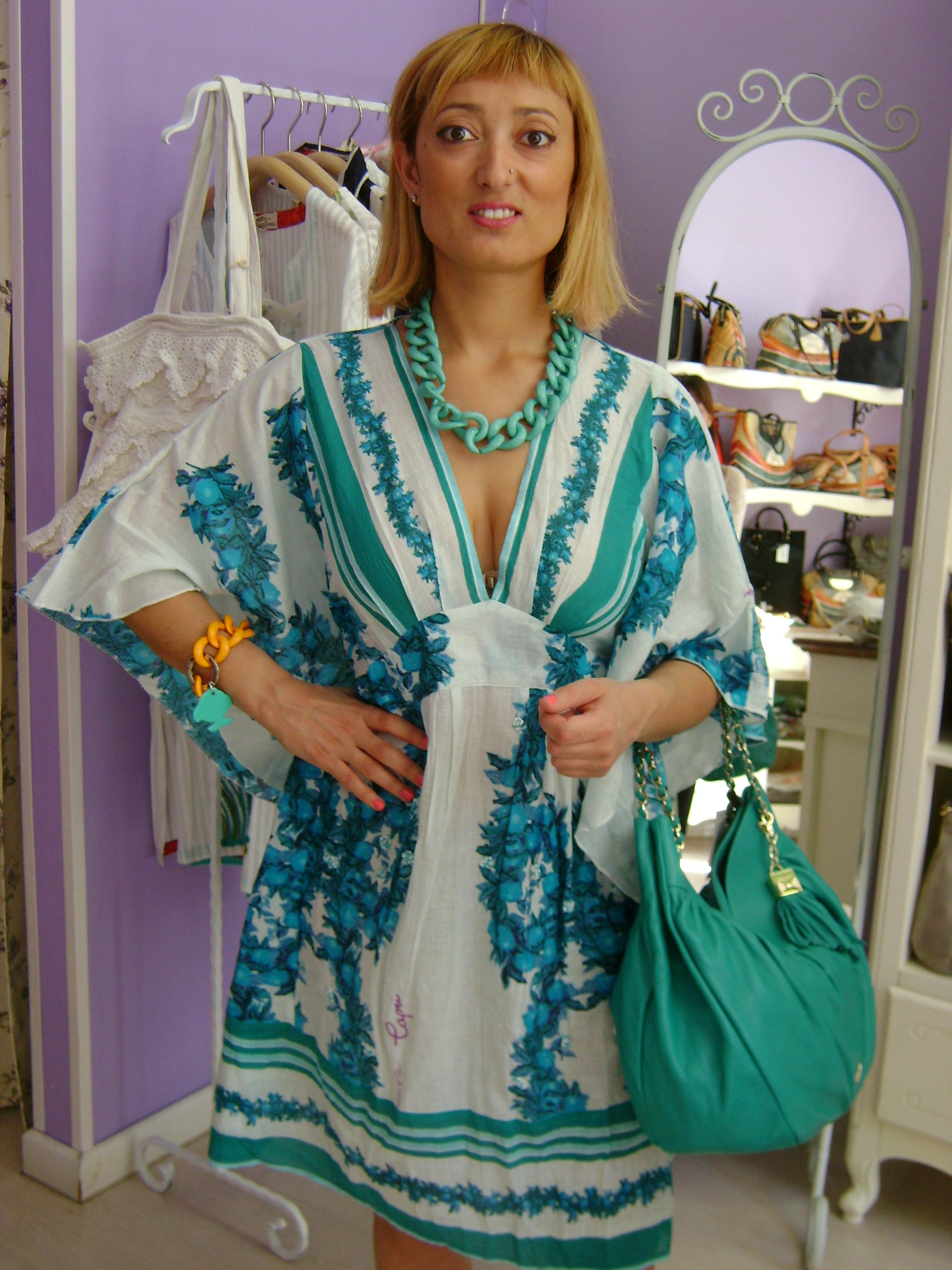 Caftano Copricostume da Donna Antica sartoria positano Vestiti Estivi Vestito